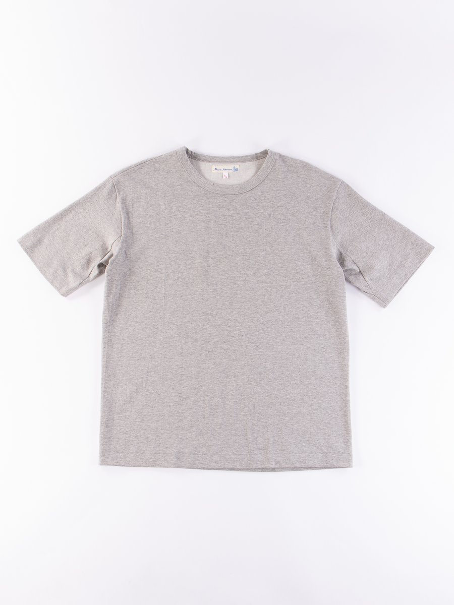 Grey Melange 218OS Oversized Crew Neck Tee
