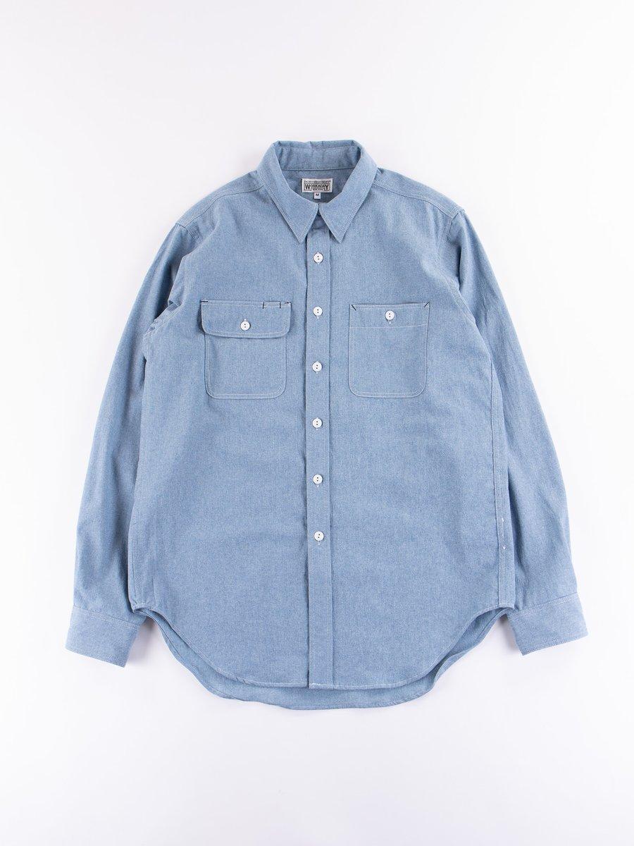 Light Indigo Washed Chambray Utility Shirt