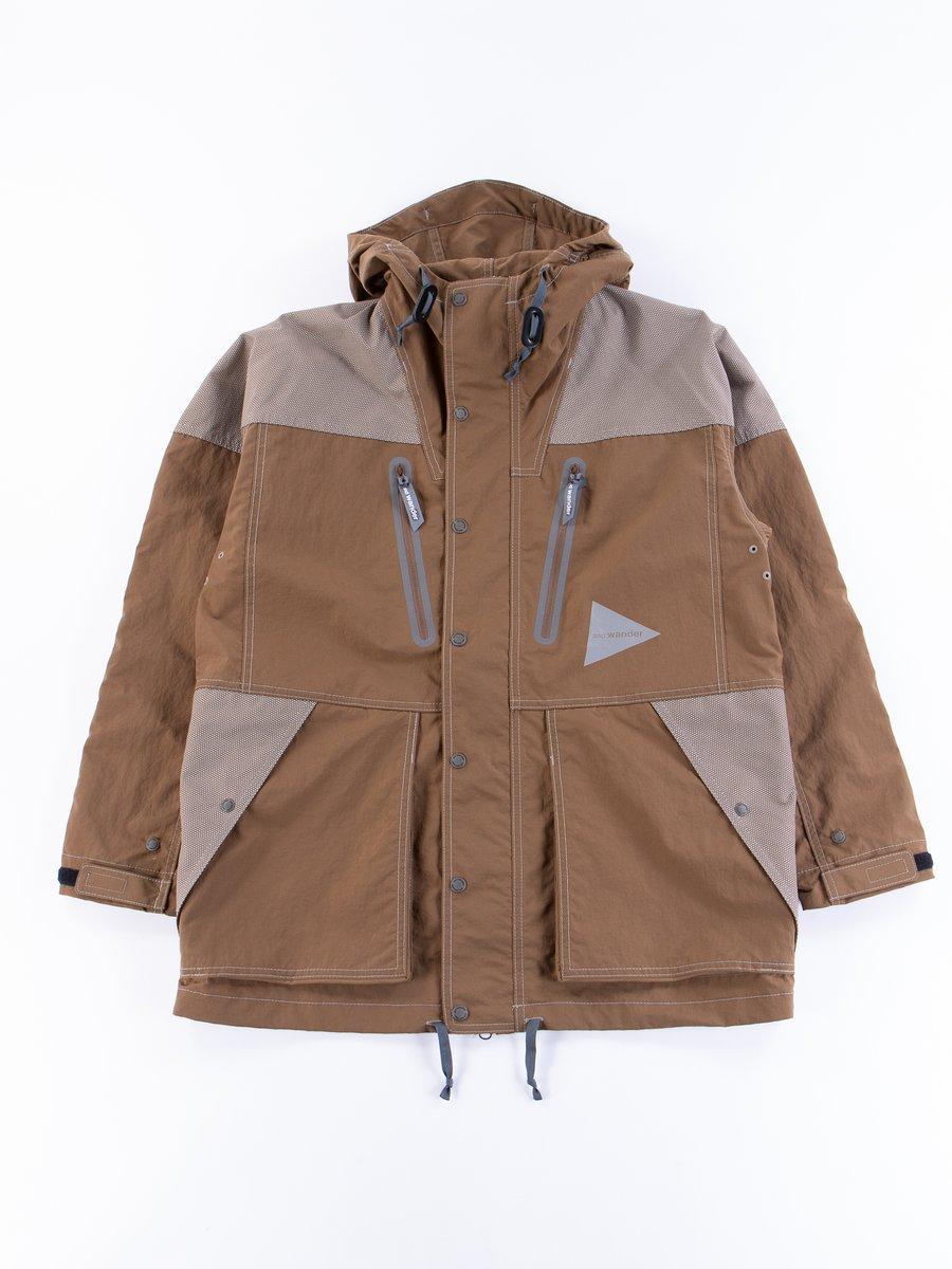 Brown Taslan Nylon Jacket