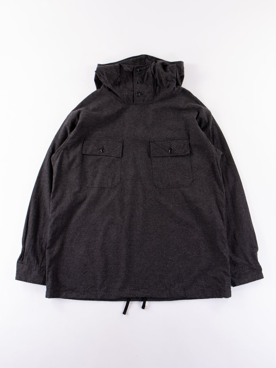 Charcoal Heather Cotton Flannel Cagoule Shirt