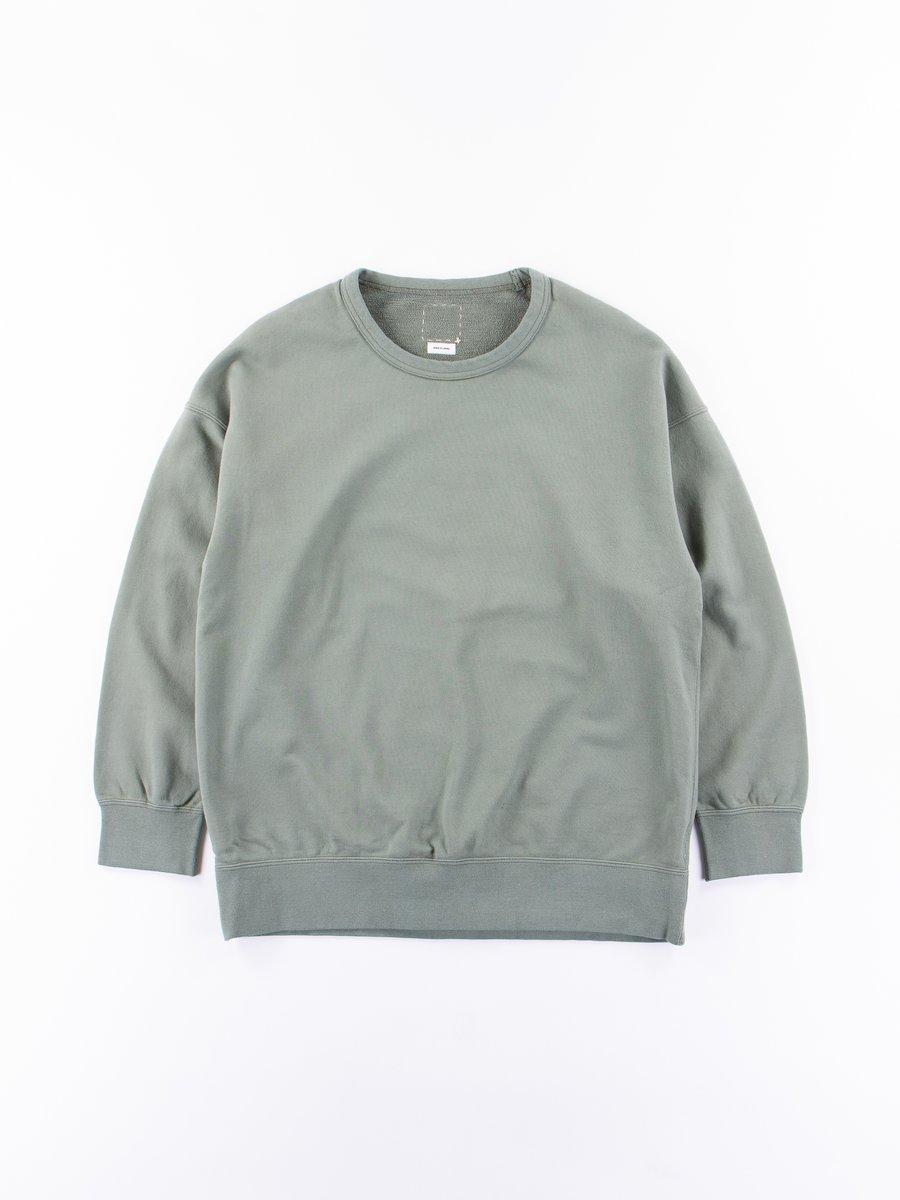 Olive Veggie Dye Jumbo Crew Neck Sweatshirt