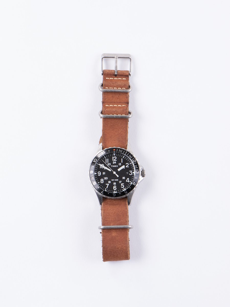 Steel/Black w/ Brown Strap Navi Ocean Watch