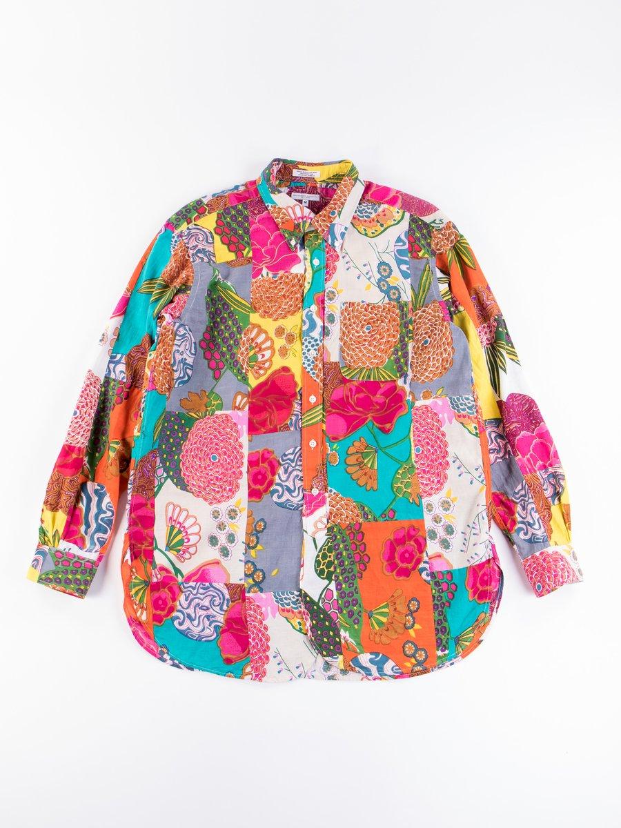 Multi Color Cotton Floral Patchwork 19th Century BD Shirt