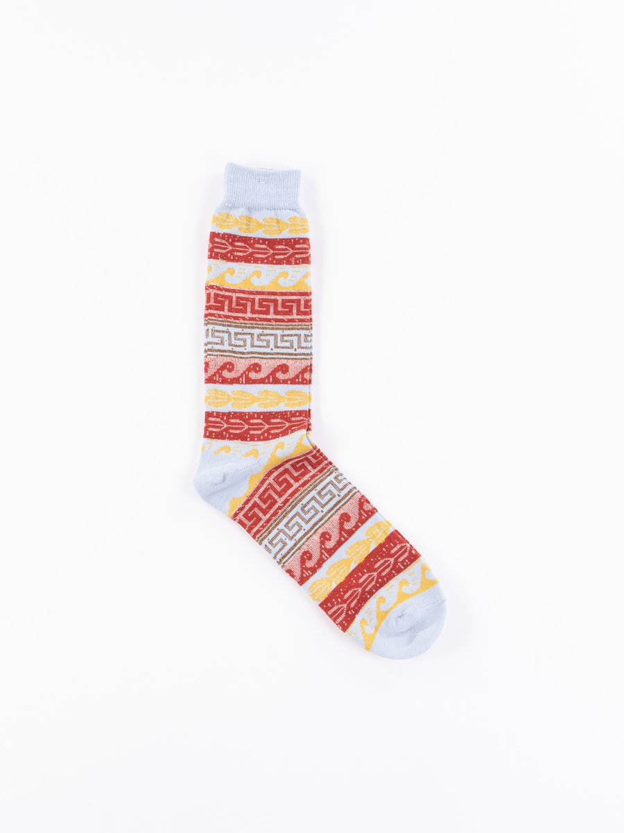 Sax Native Pattern Crew Socks