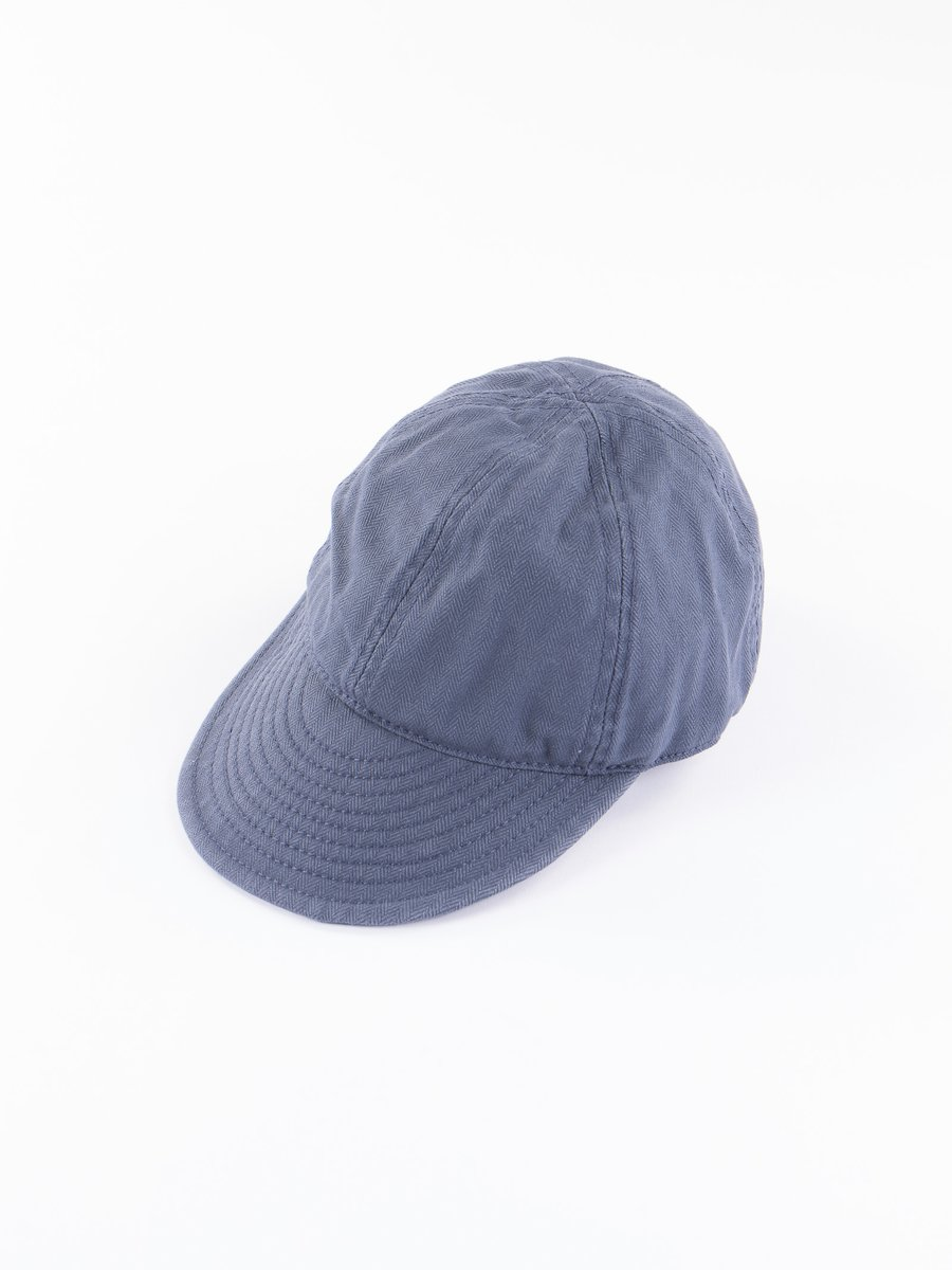 Lybro Washed Blue Herringbone Mechanics Cap