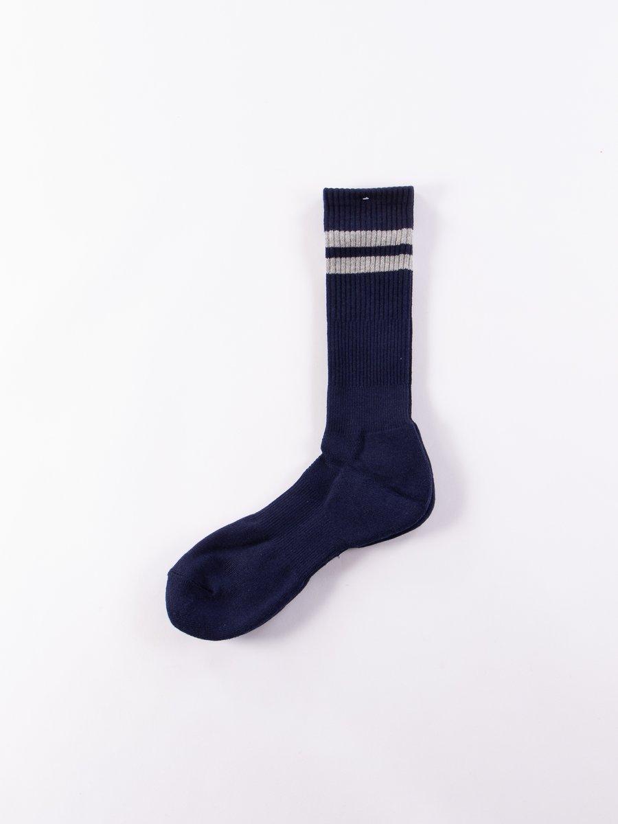 Navy Cordura Line Crew Socks