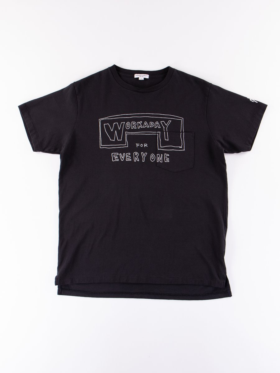 Navy Everyone Crossover Crew Pocket Tee