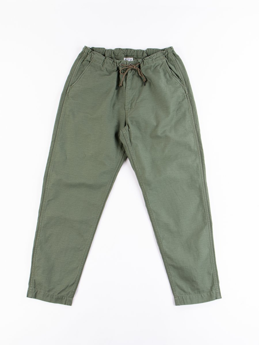 Green Reversed Sateen TBB Mill Pant