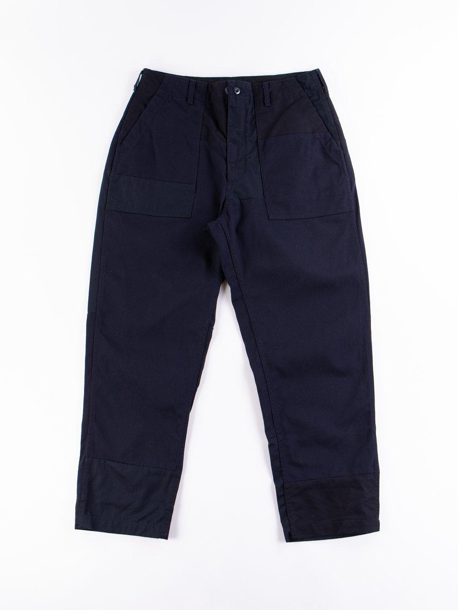 Dark Navy Cotton Heavy Twill Fatigue Pant