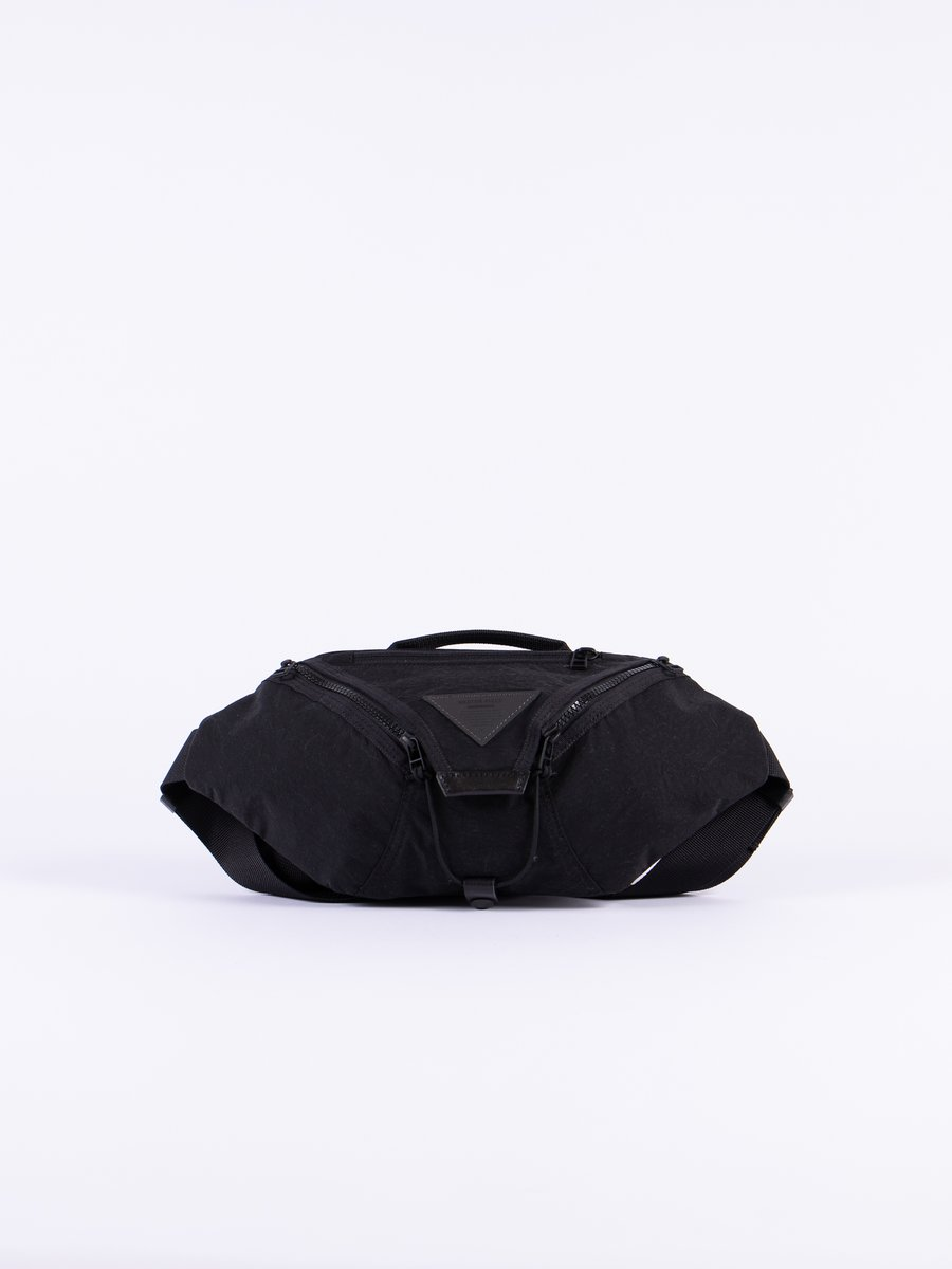 Black Delta Waist Bag
