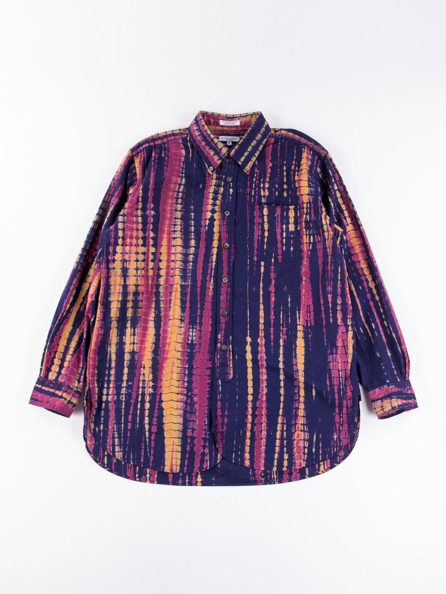 Navy Cotton Lawn Batik Stripe 19th Century BD Shirt