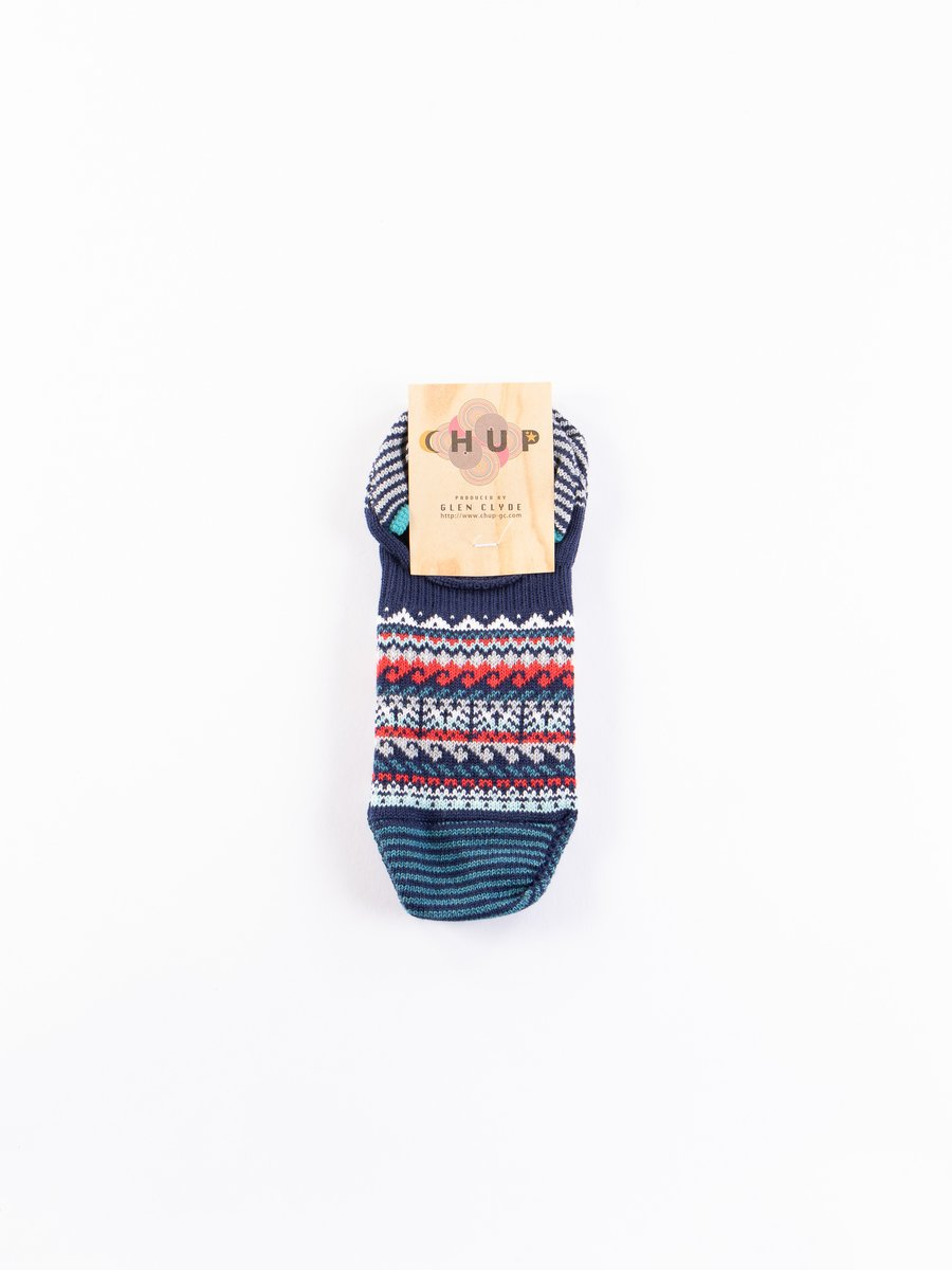 Space Blue Loch Trainer Socks