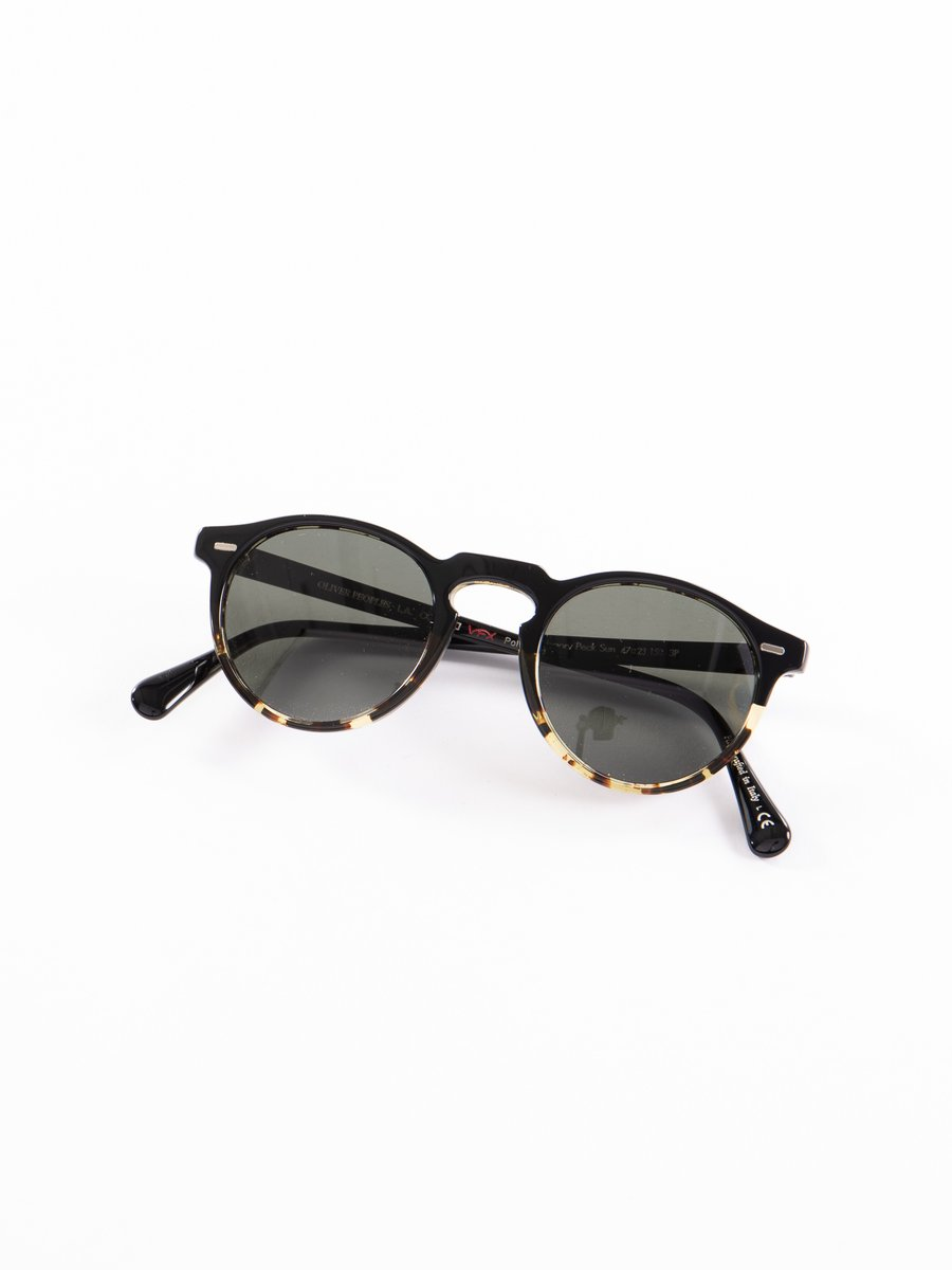 Black–DTBK Gradient/Green Polar Gregory Peck Sunglasses