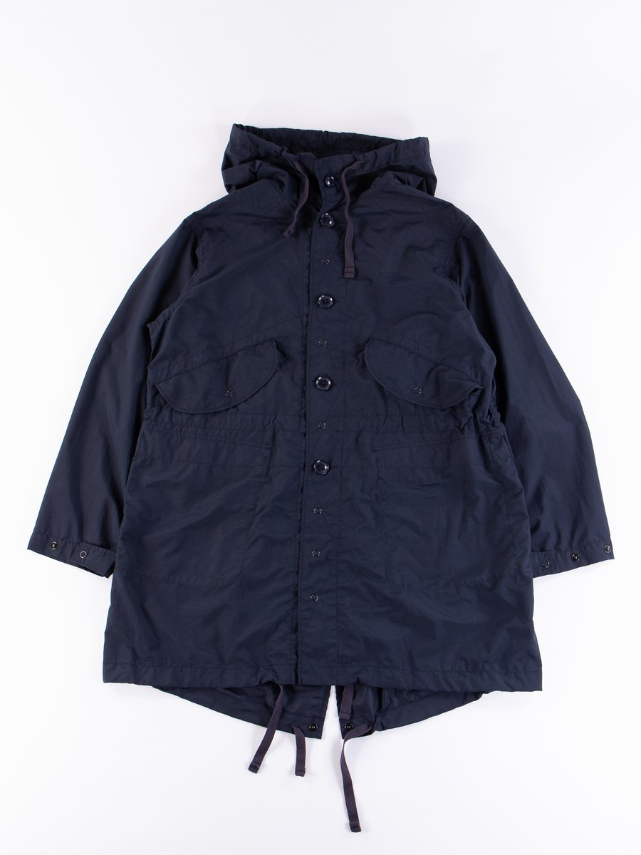 Navy Acrylic Coated Nylon Taffeta Highland Parka