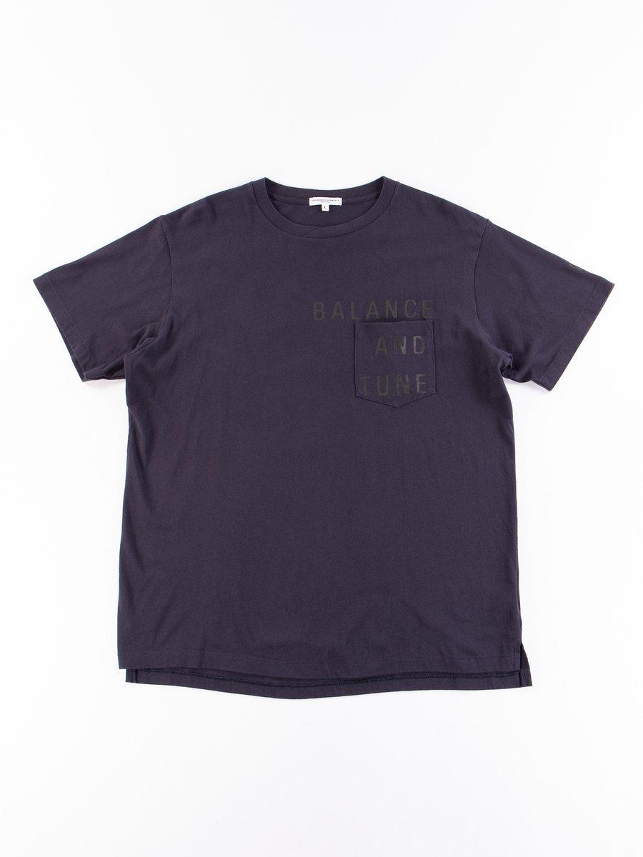 Navy Balance Printed Cross Crew Neck T–Shirt