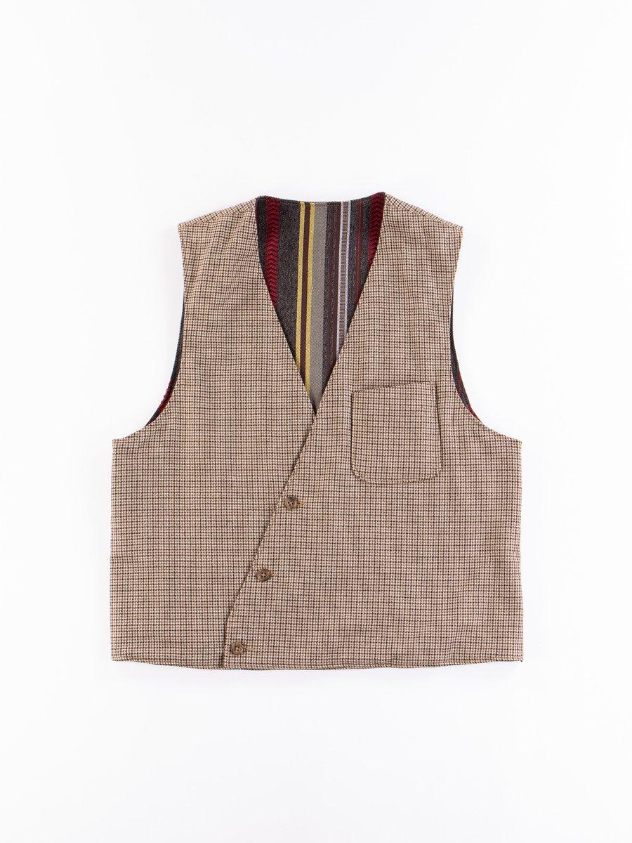 Brown Wool Poly Gunclub Reversible Vest