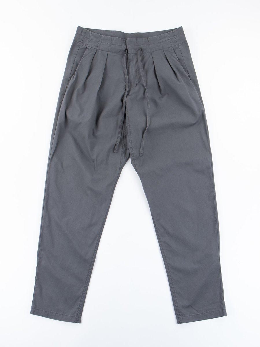 Charcoal Vancloth Poplin Drop Crotch Pant