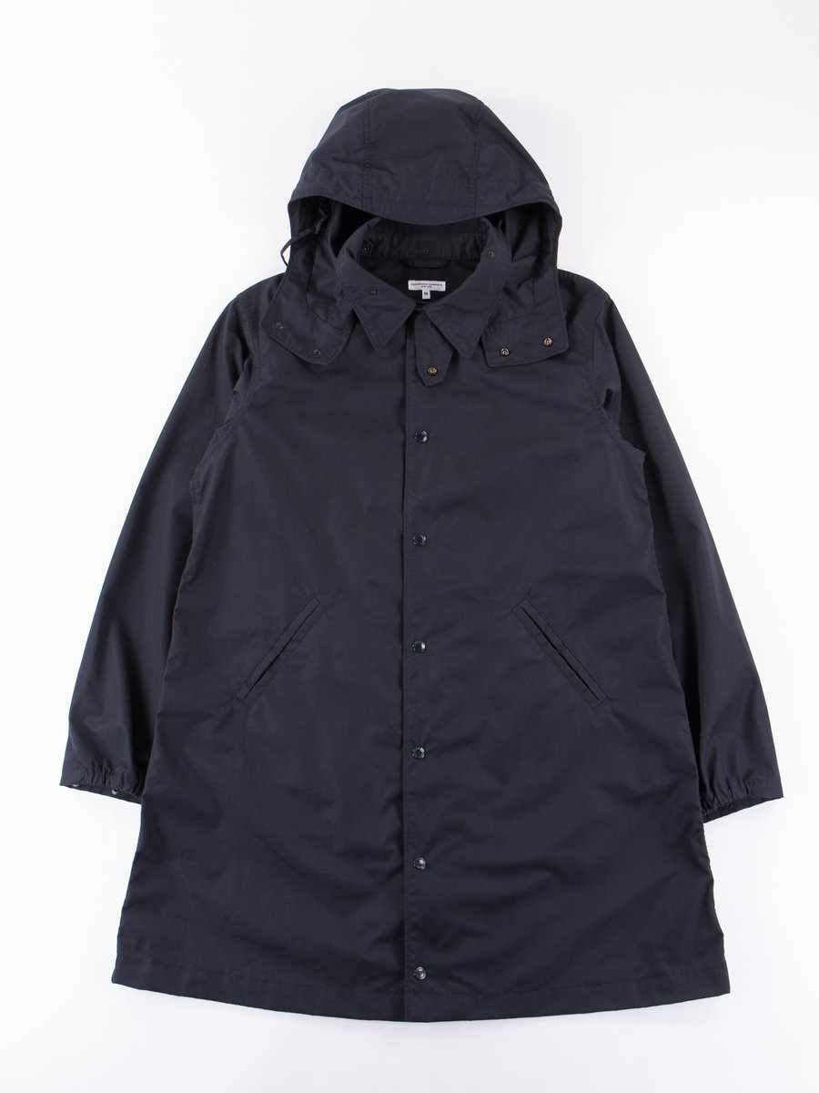 Dark Navy PC Poplin Ground Duster Coat