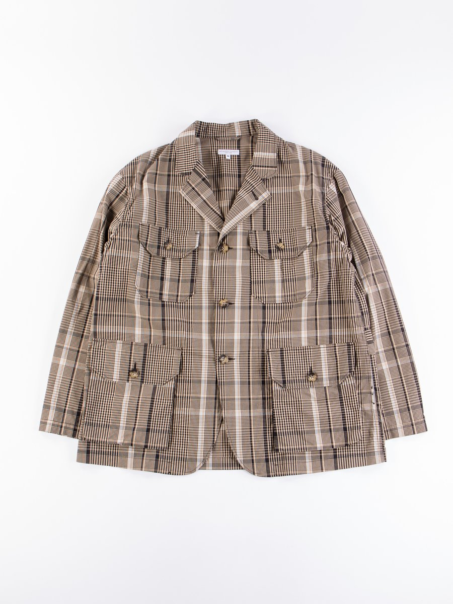Beige/Black Nyco Plaid Folk Jacket