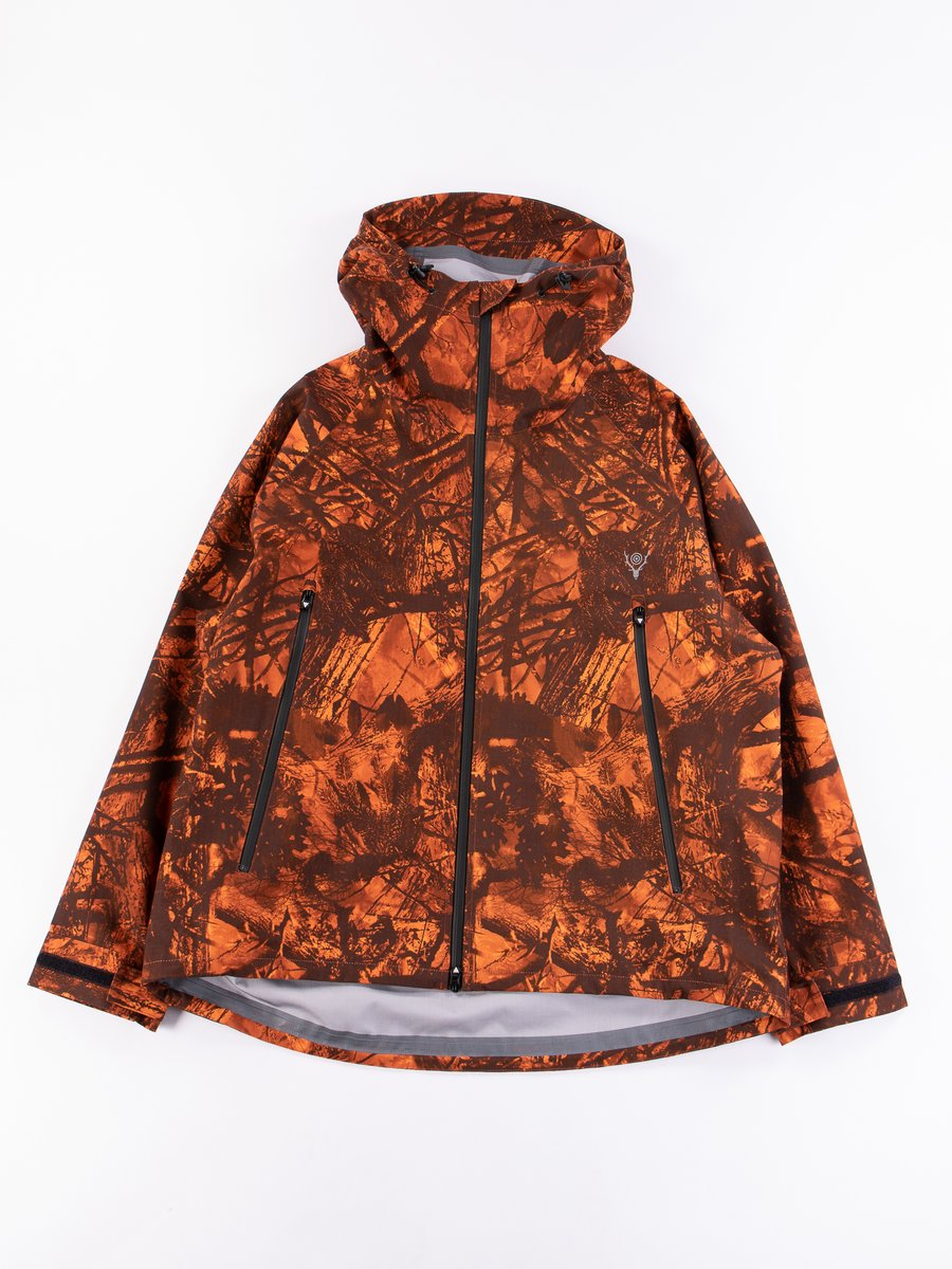 Orange Waterproof Weather Effect Jacket