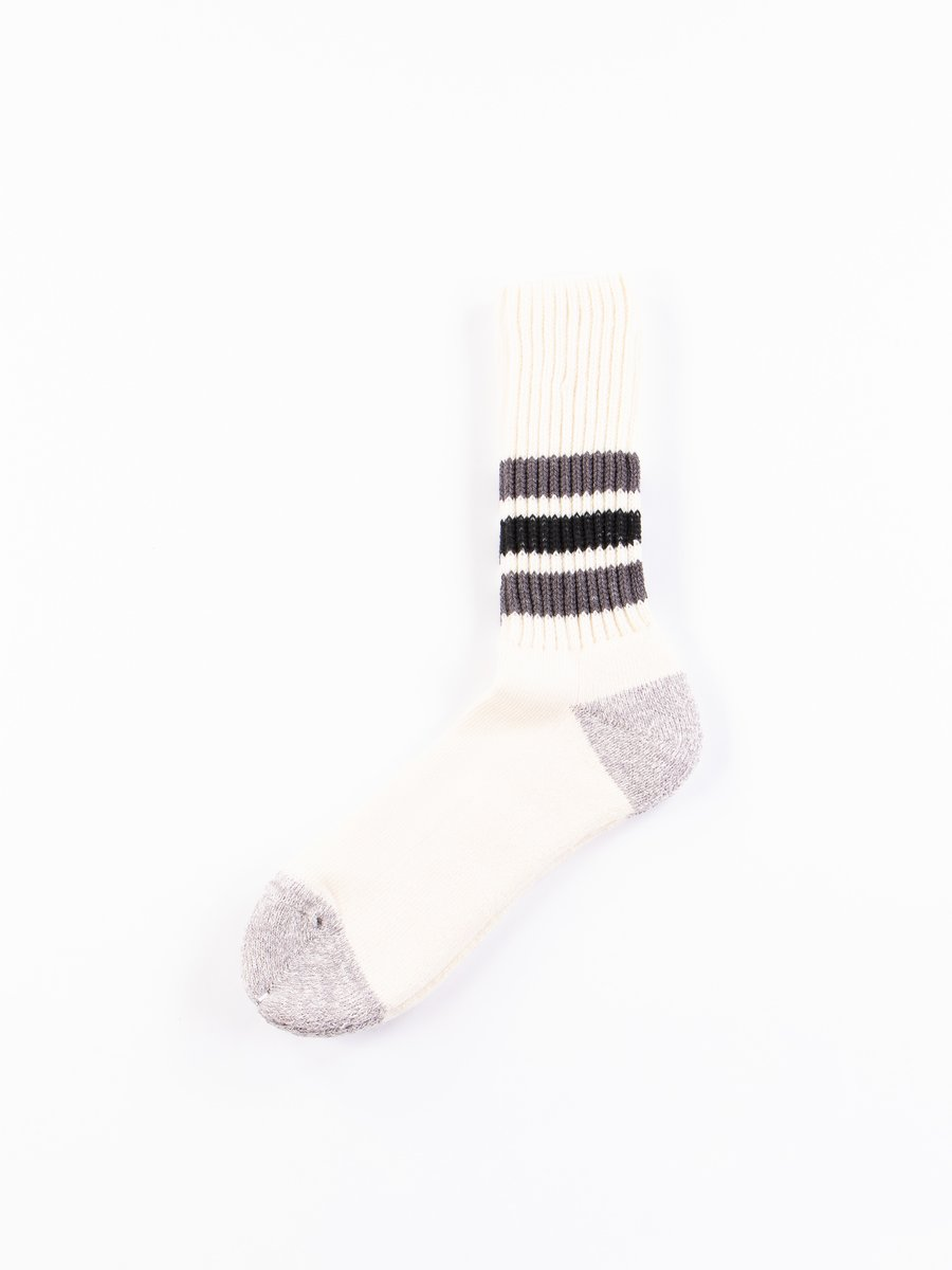 Dark Grey/Black Coarse Ribbed Oldschool Socks