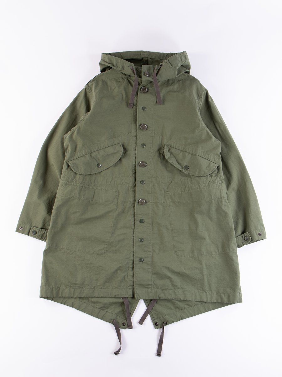 Olive Cotton Ripstop Highland Parka
