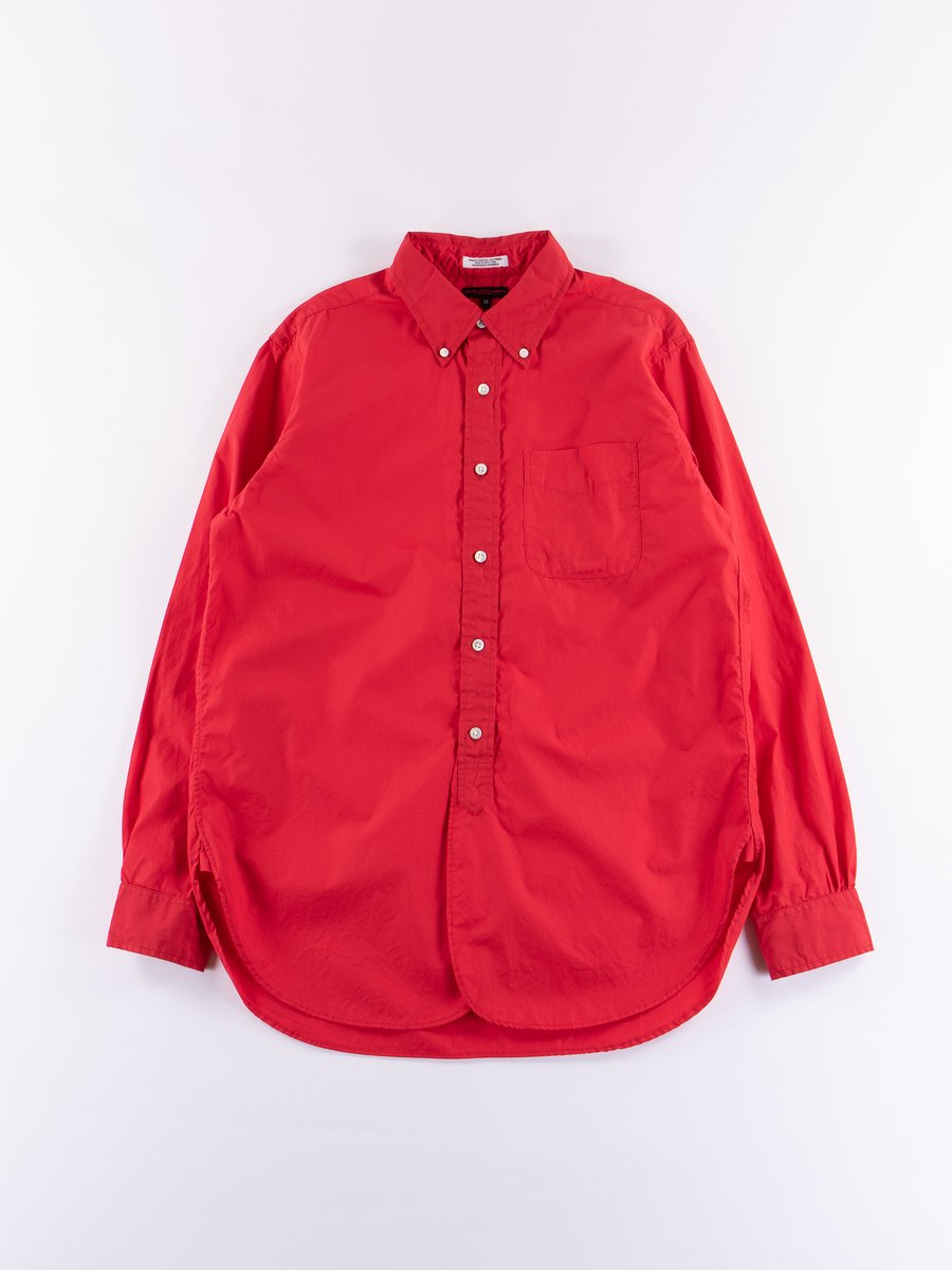 Red 100's 2ply Broadcloth 19th Century BD Shirt