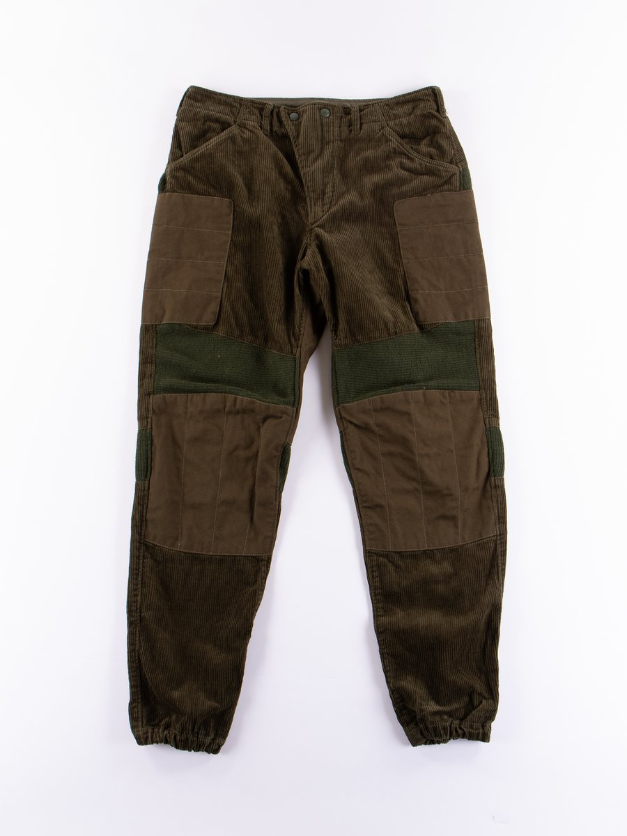 Olive 8W Corduroy Moto Pant
