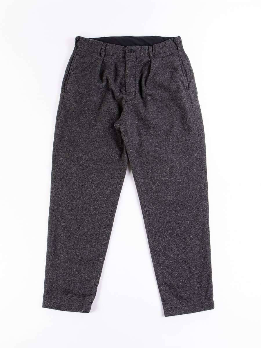 Grey Wool Blend Homespun Carlyle Pant