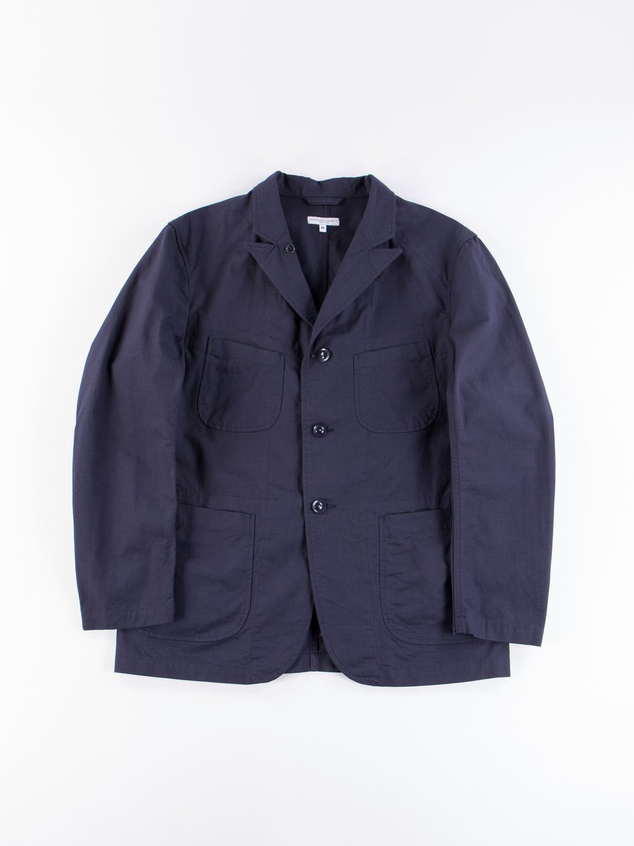 Dark Navy Cotton Ripstop Bedford Jacket