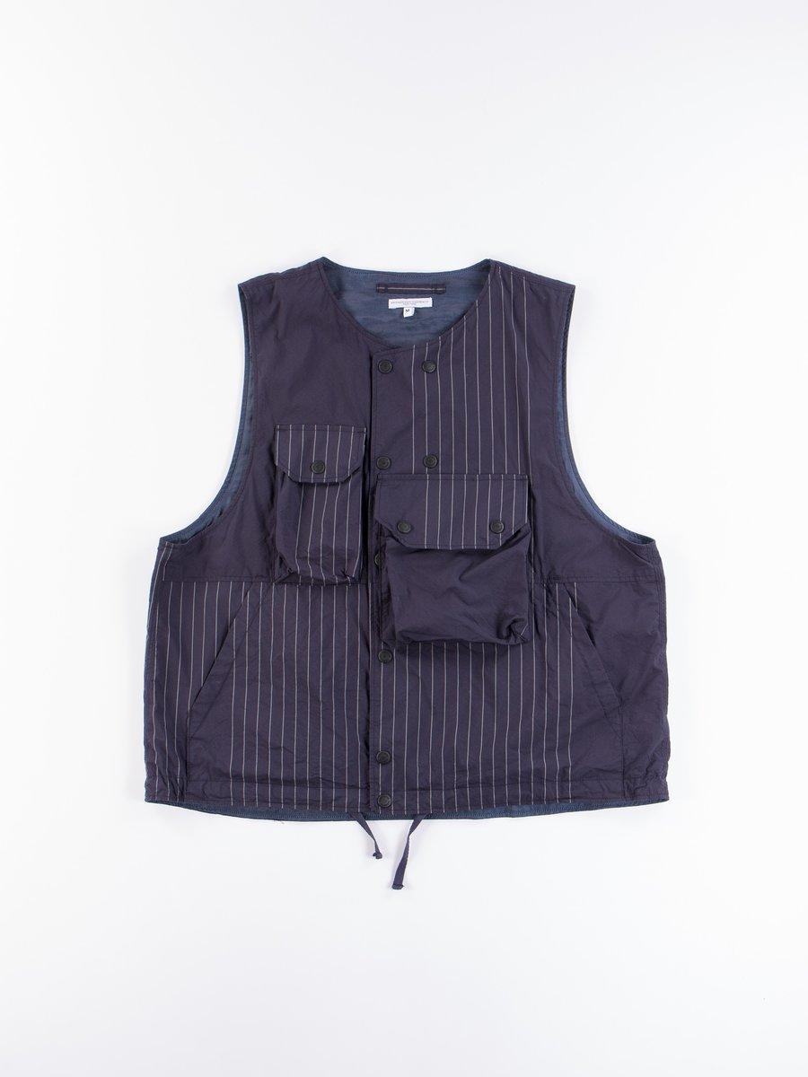 Dark Navy Nyco Gangster Stripe Cover Vest