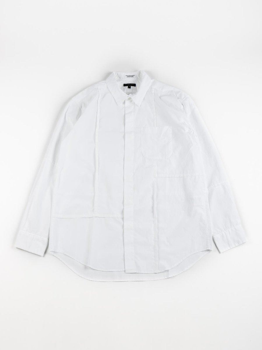 COMBO SHORT COLLAR SHIRT WHITE 100's 2PLY BROADCLOTH