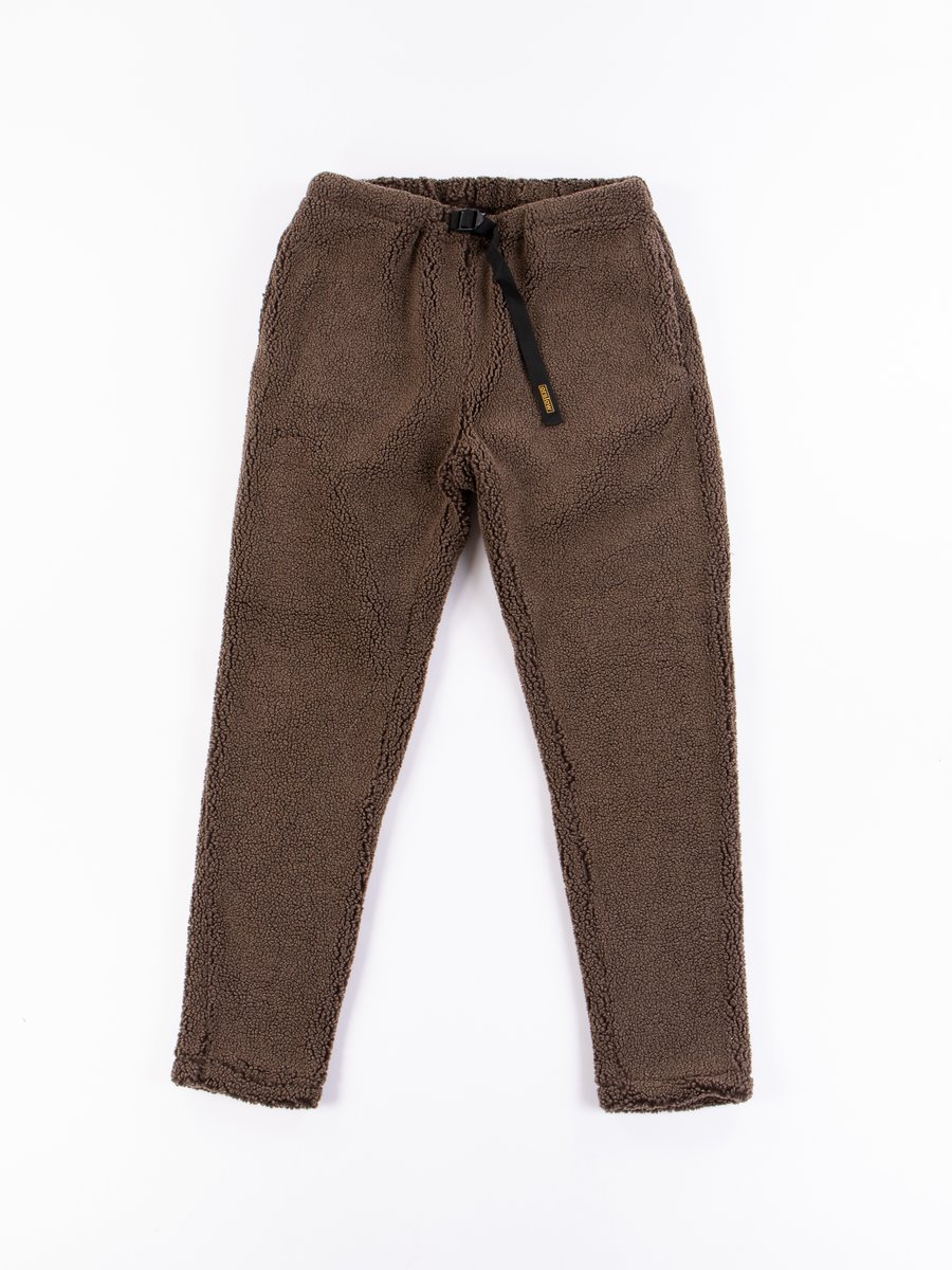 Brown Fleece New Yorker Pant