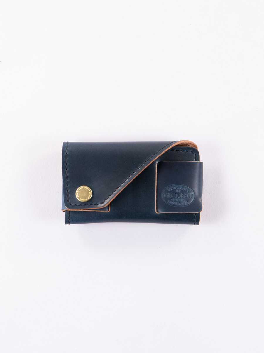 Nautical Blue Cordovan Legacy Cardholder