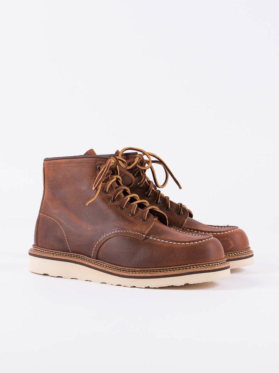 "Copper 1907 Heritage 6"" Moc Toe Boot"