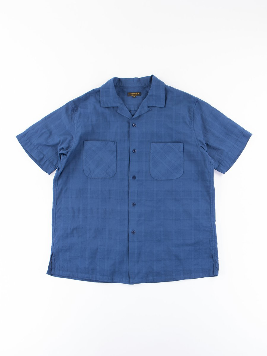 Navy Blue Open SS Shirt