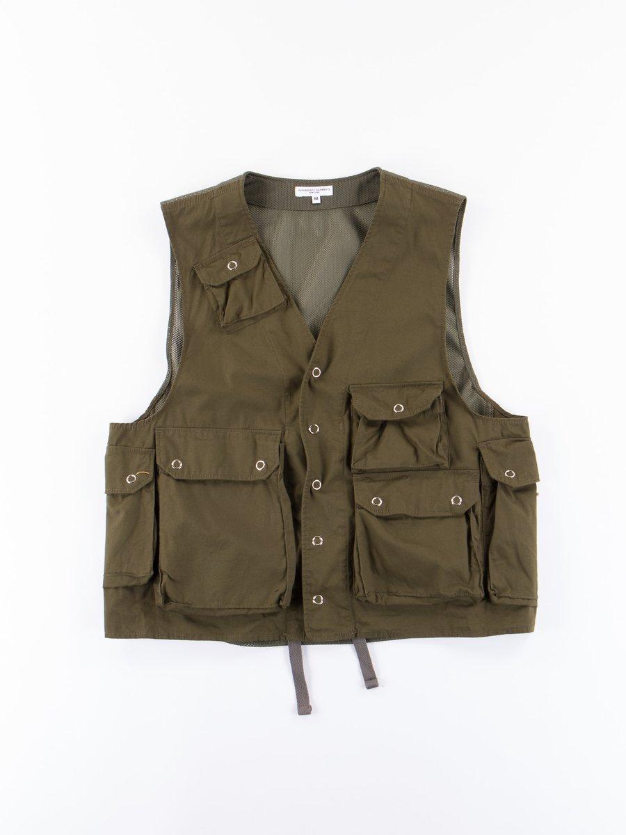 Dark Olive Malibu Poplin C–1 Vest