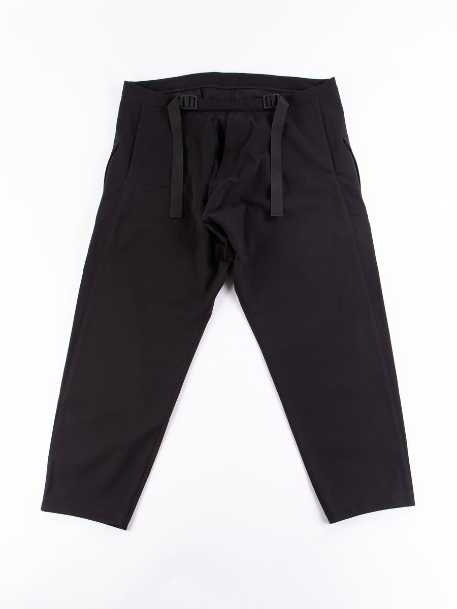 P33–DS Black Schoeller Dryskin Drawcord Trouser