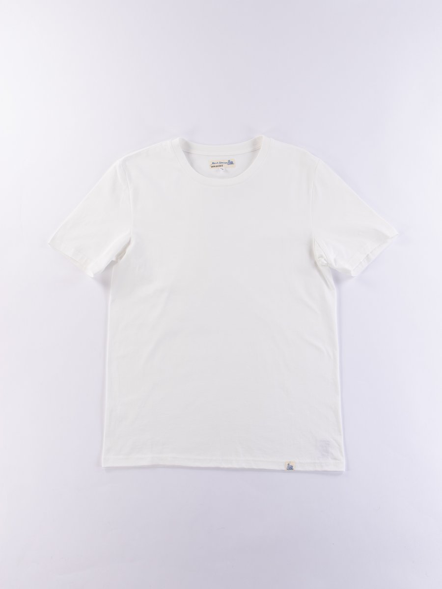 White Good Basics CT01 Crew Neck Tee