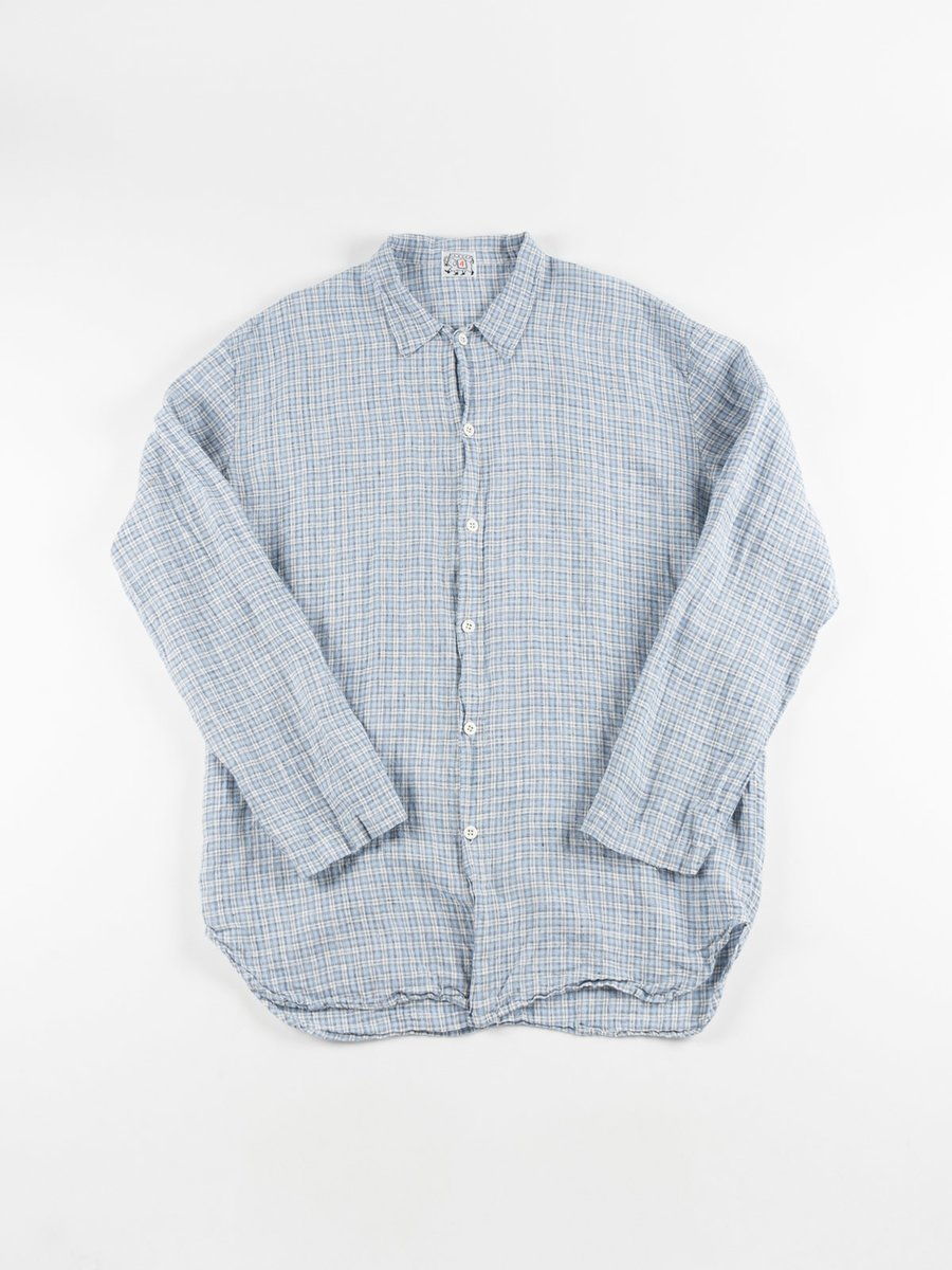 WEAVER'S STOCK LONG SLEEVED TAIL SHIRT SPEEDWELL CHECK