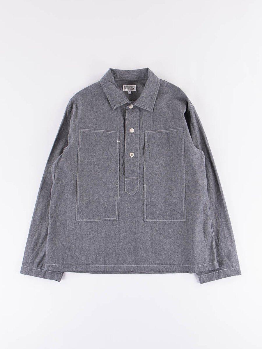 Indigo Heavy Cotton Chambray Army Shirt