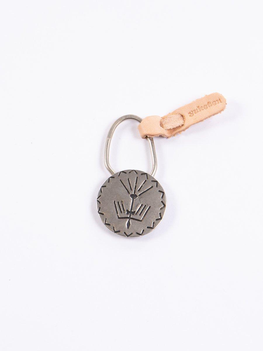 Nickel Silver Bird Concho Keychain