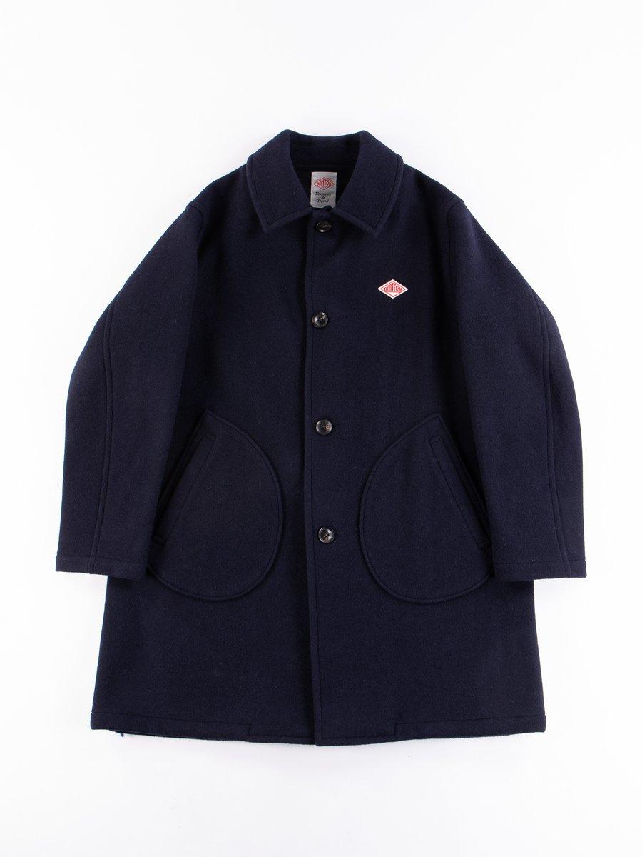 Navy Mossa Wool Coat