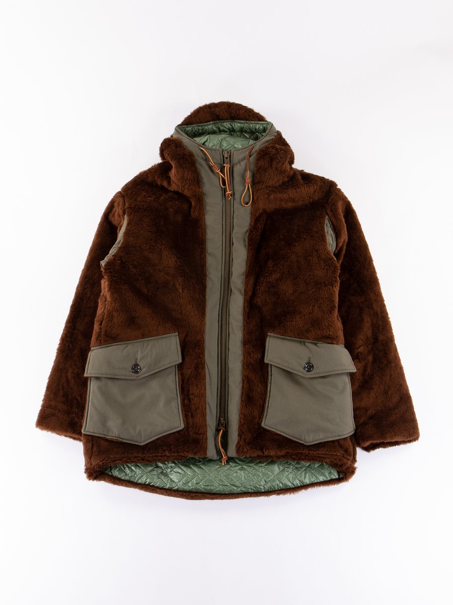Brown Kodiac Fur Coat