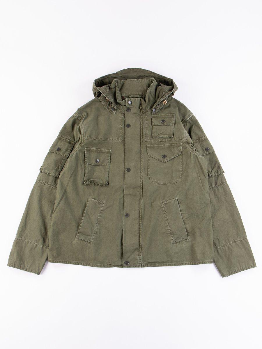 Olive Washed Cowen Jacket