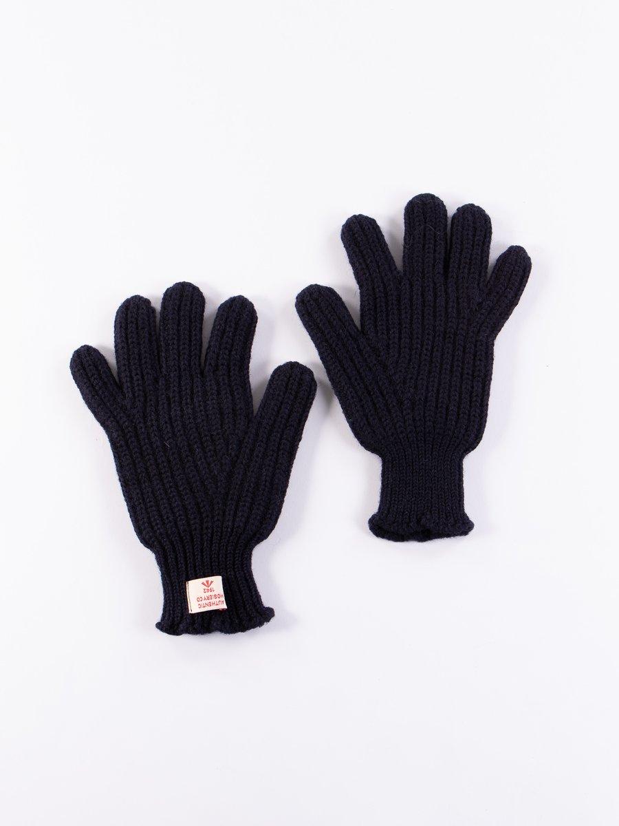 Dark Navy Ribbed Goalie Gloves