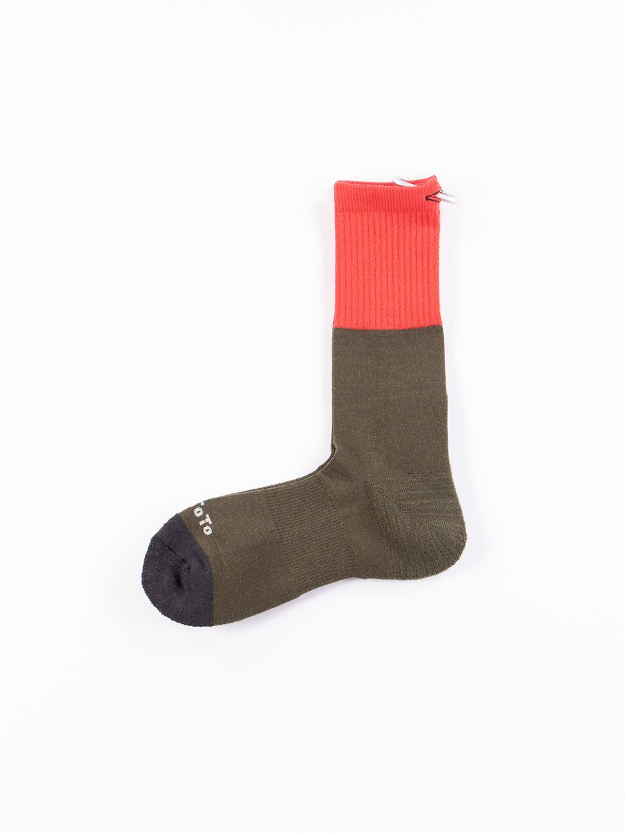 Red/Olive/Charcoal Zero Day Crew Socks