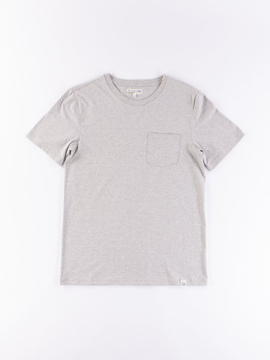 Grey Melange Good Basics CTP01 Pocket Crew Neck Tee