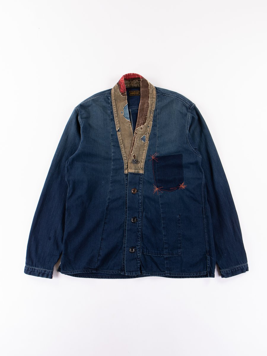 Indigo 8oz Denim Jubbahn Dotera Remake Shirt