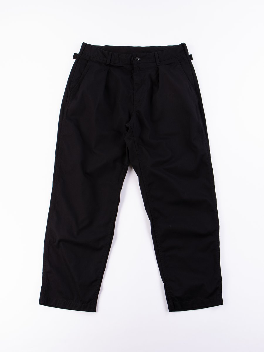 Black 6.5oz Flat Twill Ground Pant